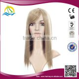 2014 New fashion style customizable synthetic long blonde wig