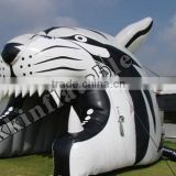 inflatable train tunnel, inflatable tiger sports tunnels