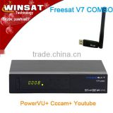 Cheapest DVB S2/T2 Freesat V7 combo satllite Tv receiver Free to air support 3G dongle