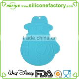 100% food grade heat resistant silicone pad mat/ coaster with snowman style