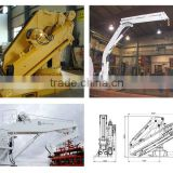 Electric Hydraulic Marine Knuckle Telescopic Boom Crane for deck of boat, ship, vessel for sale