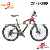 Factory price 26 inch full carbon fiber mountain frame bike with 27 speed