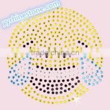 Hottest Sell Lovely Emoji smile face Rhinestone Iron-on Rhinestone Transfer Wholesaler #8