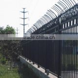 wholesale and low price galvanized black powder painted panel used aluminum steel fences