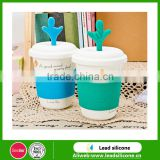 Qute Fingers Silicone Drink Lids -Suction Seal Lids- Flexible Silicone Cup Cover