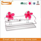 Flower Suction Chrome Plating Metal Wire bathroom caddy