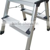 WR2294F 2 step aluminum household folding agility domestic ladder up by both side Step Ladder