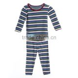 2015 Top Quality Striped Clothing Sets Plain Cotton Fun Kids Pajamas