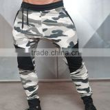 Hot camouflage style jogger sweat tracksuit pants for sports and workout from mens activewear with brand name