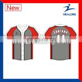 2014 China OEM baseball jersey uniforms high quality baseball uniform pattern stripe baseball uniform