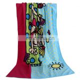 2017 new cotton printed beach towel wholesale