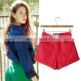 Top selling colorful high waist pants mini short pants sexy girls pants