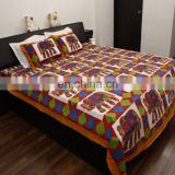 luxury pure cotton animal printed bedsheet pillow sets bedding comforter bed cover