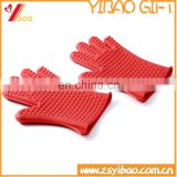 waterproof and heat resistant silicone BBQ gloves for hand protection