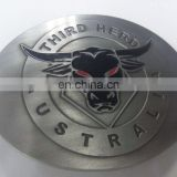 3D relief with the pattern of herd embody the company culture Zinc cast belt buckle antique silver plating