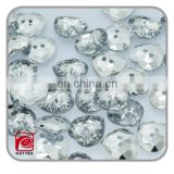 2 hole clear plastic acrylic buttons,heart shape acrylic crystal buttons,shoe accessories