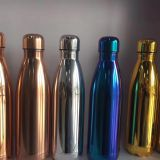 500ml Colorfull Electroplate stainless steel vacuum water bottle mug
