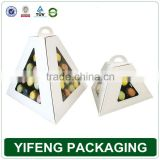 customized paper fashion macaron boxes packaging pyramid gift box for macaron