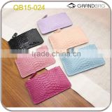 Colorful python pattern cow leather coin purse embossed python leather pouch with card slots inside