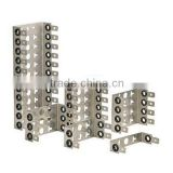 Stainless steel back mount frame for 10 pair LSA module/Krone module