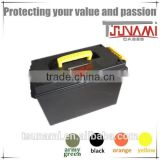 Engineering PP plastic storage box OEM plastic us general tool box locks with tools for flashlight (TB-901)