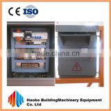 Electric control panel of weight lifting equipment