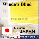 colorful and hot selling aluminium alloy window blind for indoor 25mm slats made in Japan