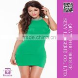New arrival wholesale sexy clubwear mini dress features bright collar package hip skirt
