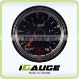 Traditional Auto Gauge, 52mm Mechanical Gauge,270 degree scale double pointer Dual Air pressure gauge