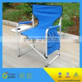 Cheap aluminum canvas director portable deck chair with table                                                                         Quality Choice