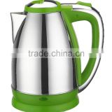 NK-K927 Kettle,green,electric kettle,1.8 liter,S/S body,color plastic,water heater