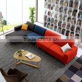 Contrast color fabric sofa set chesterfild loveseat fabric sofa perfect color match sofa