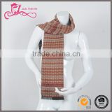 Fashion men 100% cashmere double layer winter warm woven scarf