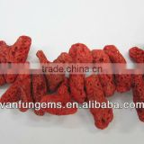 Red Coral Rough Gemstone Beads Deyd Red