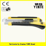 China Factory Hand tool utility knife cutter with new insulation plastic and silver color