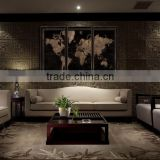 MDF linen prints set Painting wood photo prints Modern Canvas Wall Art living room decoration