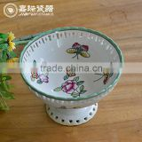decorative Porcelain Round dry fruit tray