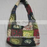 SHB130 cotton patch BTC cotton bag with block print price 270rs $3.17