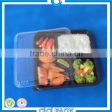 Cheap price disposable plastic divided food trays wholesale plastic bento luch box