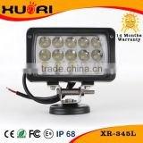 "Offroad 4x4 12v auto led work light 45w 6"" Led Work Lamp Diecast Aluminum Housing 24v led work light 45W HeadLight For ATV Truck"