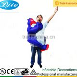 DJ-CO-187 bule color halloween jumpsuit inflatable monkey costume for men