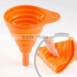 China Supplier Hot Selling New Product BPA Free High Quality Stocked silicone collapsible funnel