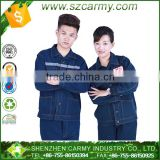 Pure Cotton Blue Denim Jeans Anti-static Anti-friction Anti-acid Industrial Construction Workwear Sets