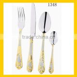 Wholesale 128 pcs royal stainless steel baby cutlery set