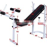 Barbell Deluxe Standard Weight Bench Foldable