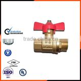 m&f thread butterfly-shaped brass ball valve