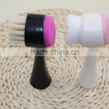 *New arrival* double sided cleansing brush Silica gel supersoft hair black or white handle face cleaing tools