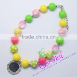 Wholesale Cheap New Arrival High Quality Fashion Kids Costume Jewelry Bubblegum Beads Pendants DIY Necklace