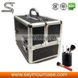 NEW Sequins Aluminium Pro Beauty Cosmetic case with drawers