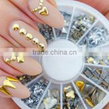 fashion bullet tangerine style metal nail art decoration maincure
